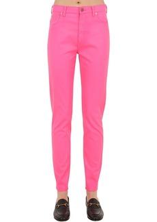 Gucci High Rise Waxed Cotton Denim Jeans