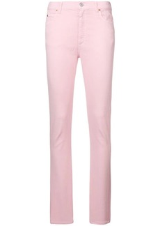 Gucci high waist logo patch skinny jeans