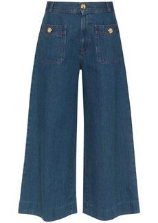 Gucci high-waisted denim culottes