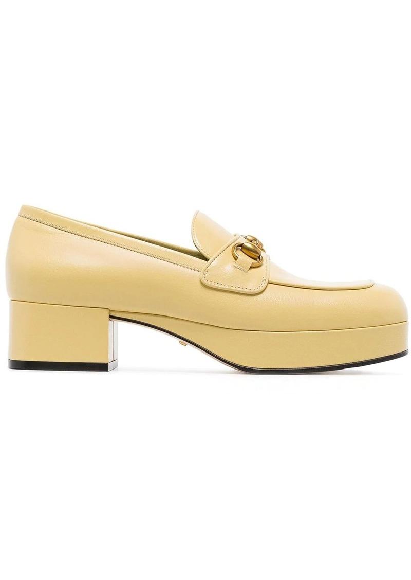 Gucci horsebit detail platform loafers