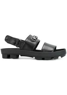 Gucci horsebit detail sandals