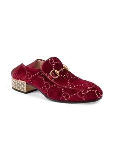 Gucci Horsebit GG Velvet Crystal Loafers