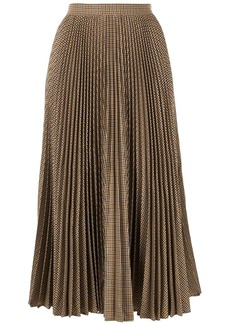 Gucci houndstooth check pleated skirt