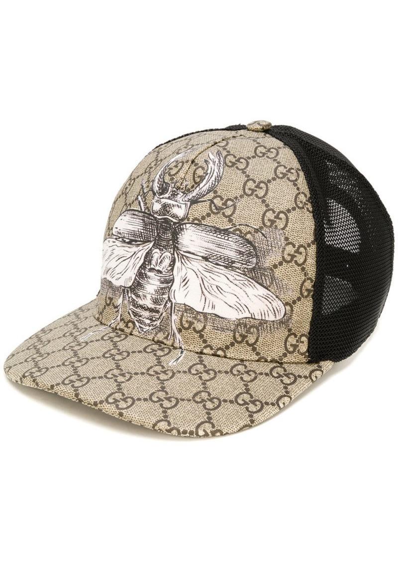 3107bb51c3cbc Gucci insect print GG Supreme baseball hat