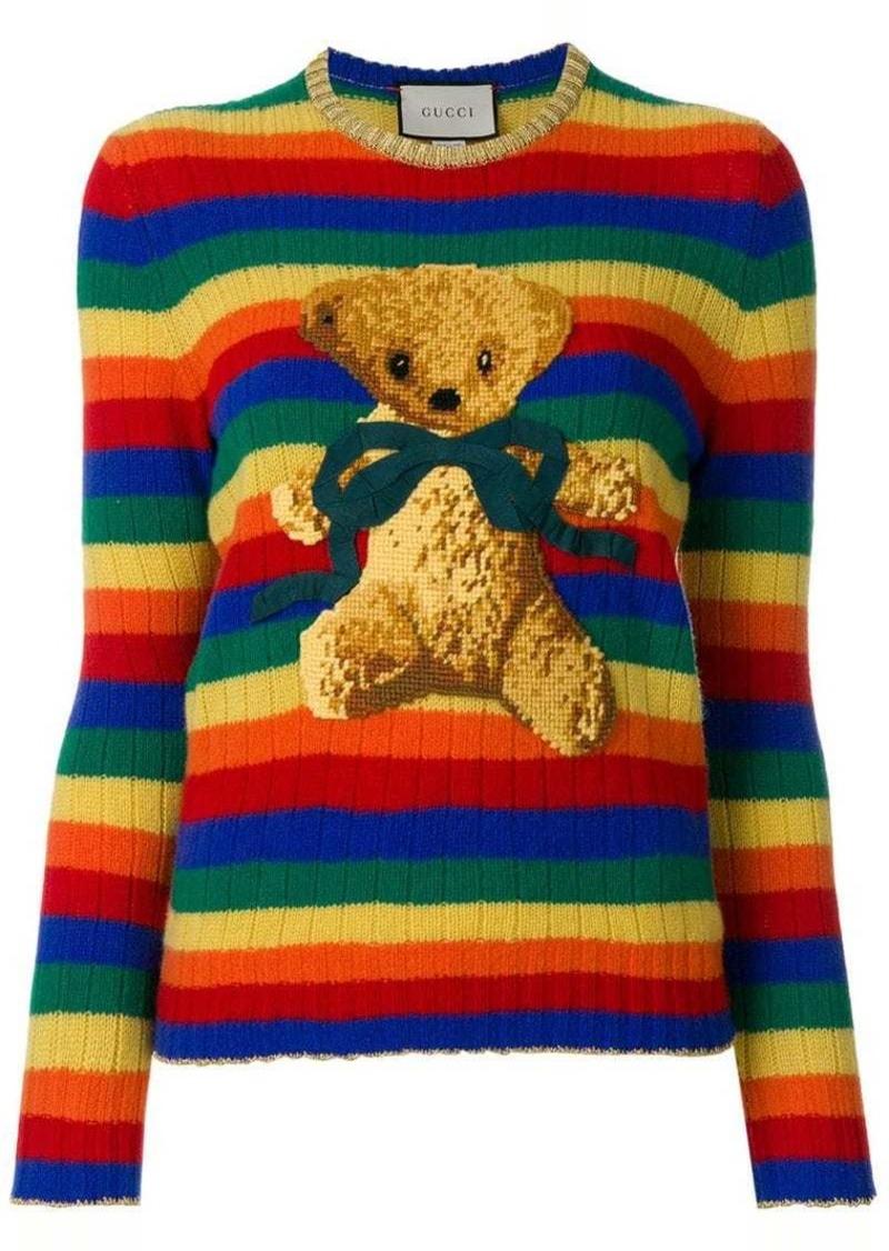 aaee9df5905a4 Gucci intarsia knit sweater | Sweaters