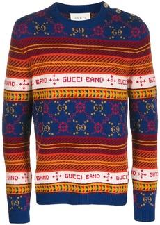 Gucci interlocked GG striped sweater