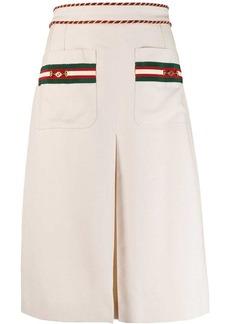 Gucci Interlocking G Horsebit detail midi skirt