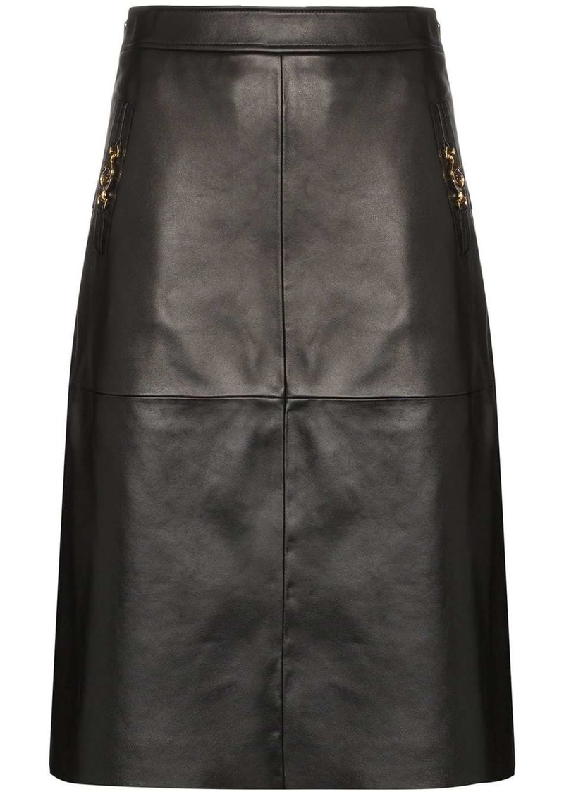 Gucci Interlocking G Horsebit motif skirt
