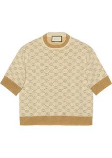 Gucci Interlocking G lamé knit top