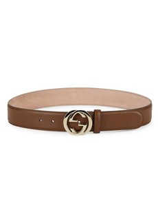 Gucci Leather Belt with G Buckle