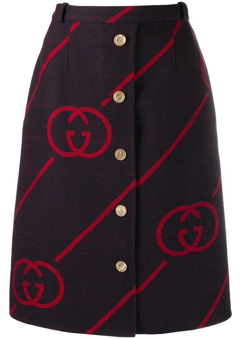 Gucci interlocking G reversible wool skirt
