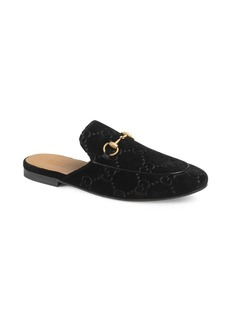 Gucci Kings GG Velvet Princetown Slipper