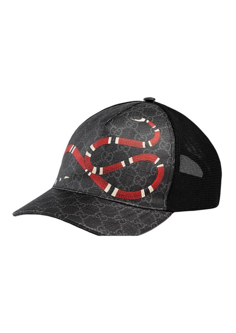 73a430033d934 Gucci Kingsnake print GG Supreme baseball hat