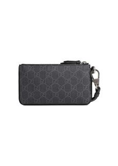Gucci Kingsnake print GG Supreme pouch
