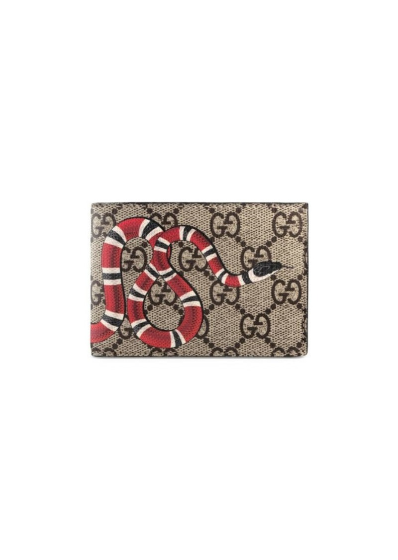 d6261cfe5cd Gucci Kingsnake Print GG Supreme Wallet