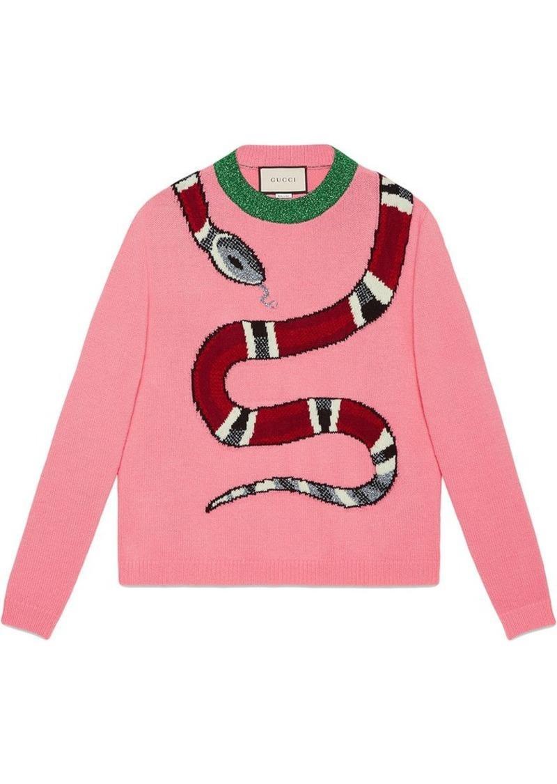 eab0b47e0 Gucci Kingsnake wool knit sweater
