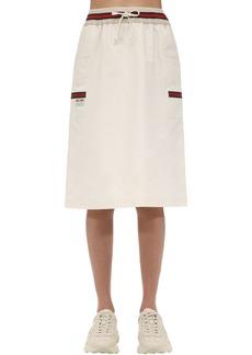 Gucci Knee Length Cotton Canvas Skirt