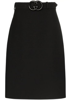 Gucci GG belted midi skirt