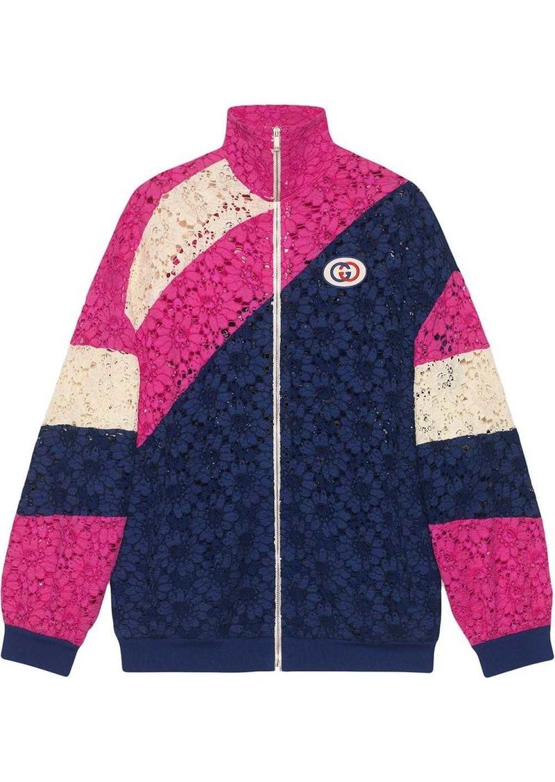 Gucci lace zip front jacket
