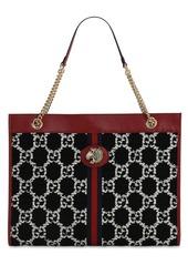 Gucci Large Rahah Gg Cotton Blend Tweed Tote