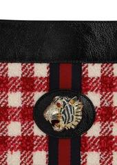 Gucci Large Rahah Wool Blend Vichy Tweed Tote