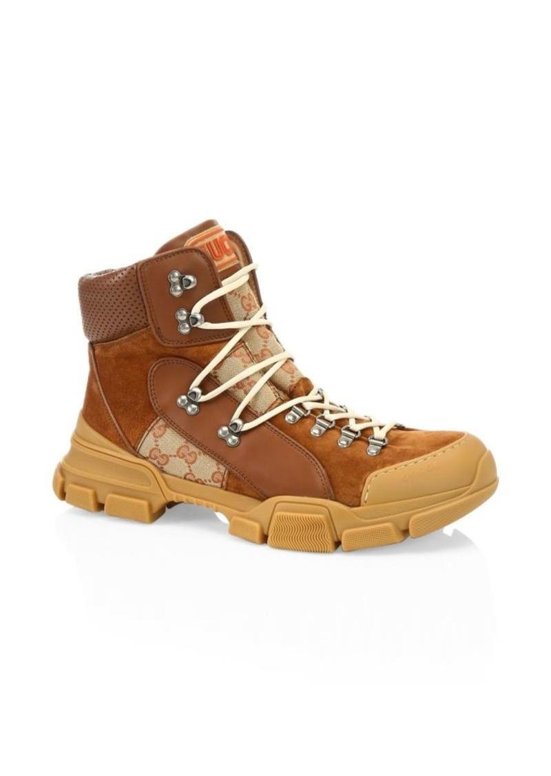 Gucci Leather & Original GG Trekking Boots