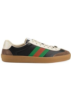 Gucci Leather and suede Web sneakers