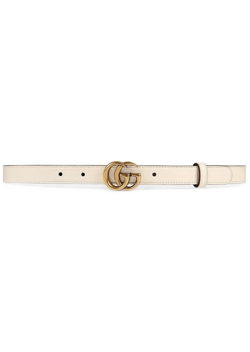 14c6736167d Gucci Leather belt with Double G buckle