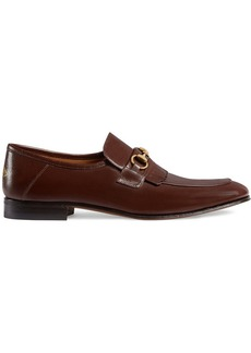 Gucci Leather fringe Horsebit loafers