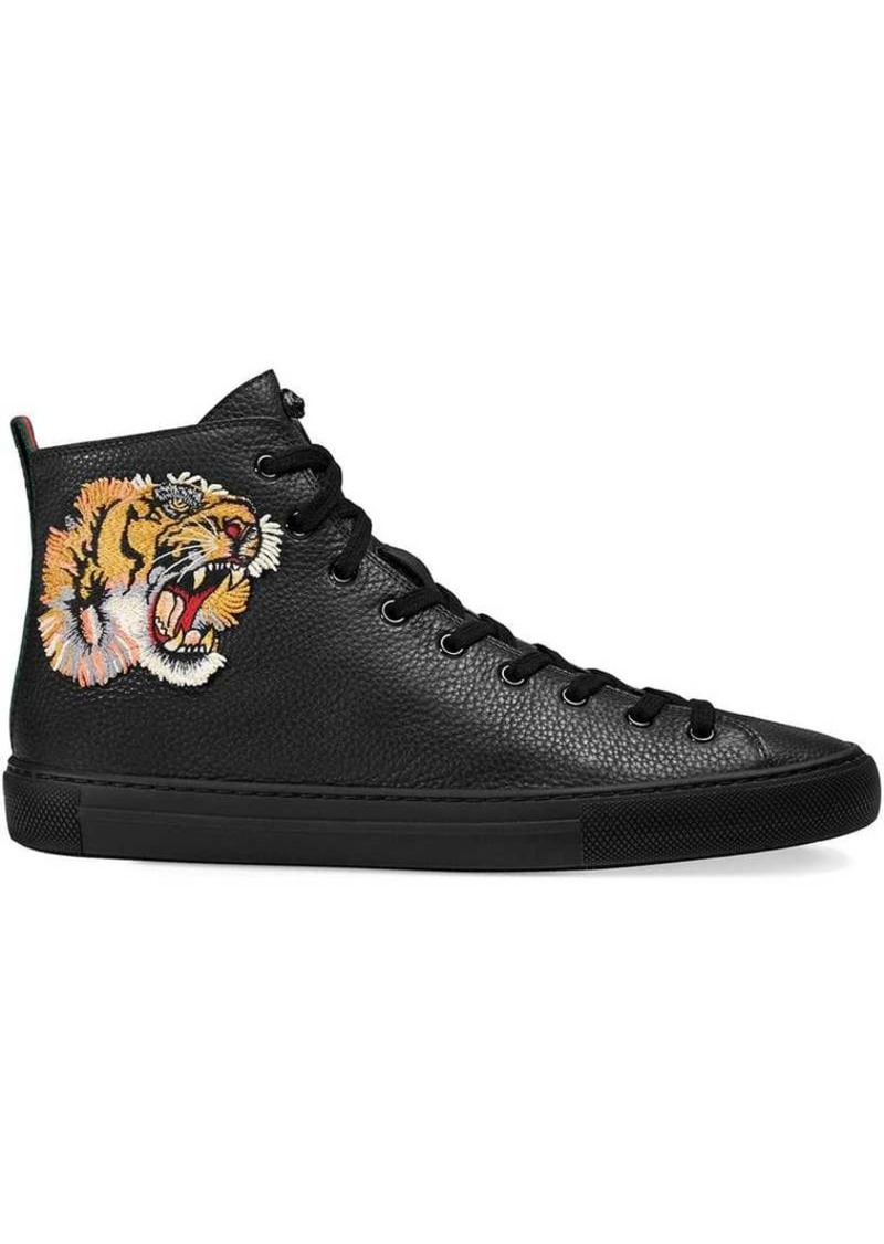 cb8d73823 Gucci Leather high-top sneaker with tiger | Shoes