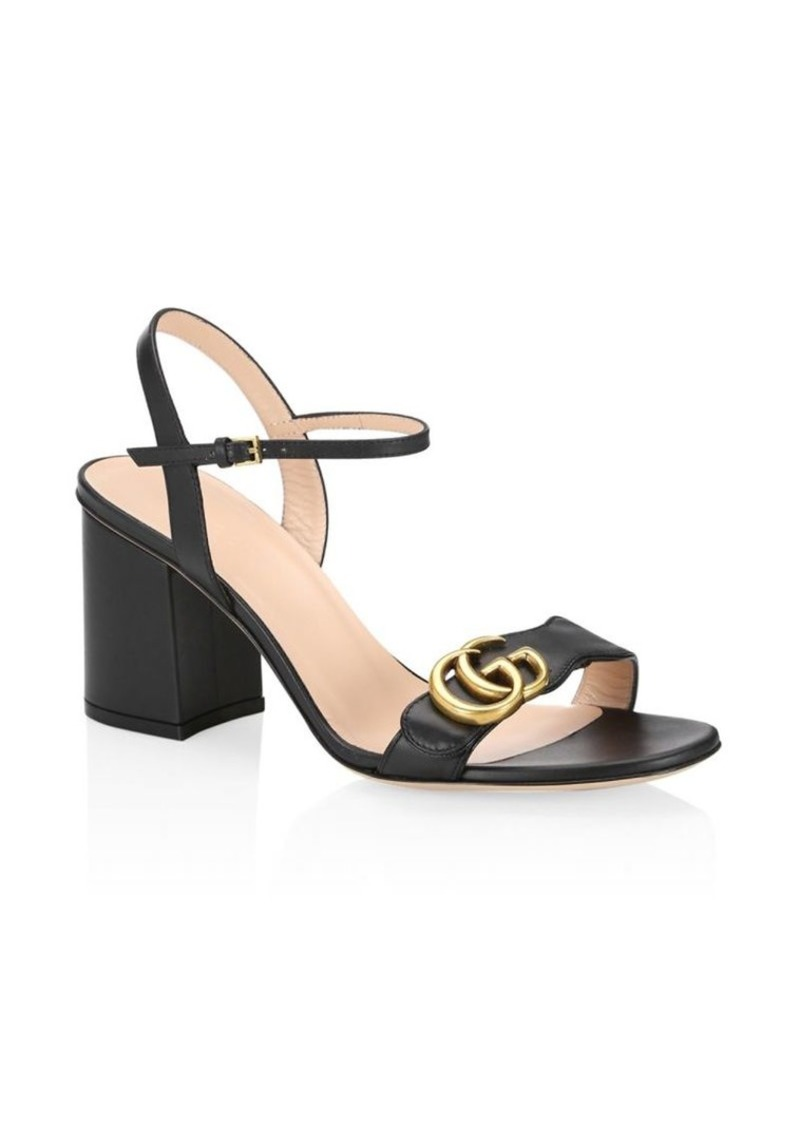 a2269831db88 Gucci Leather Mid-Heel Sandals