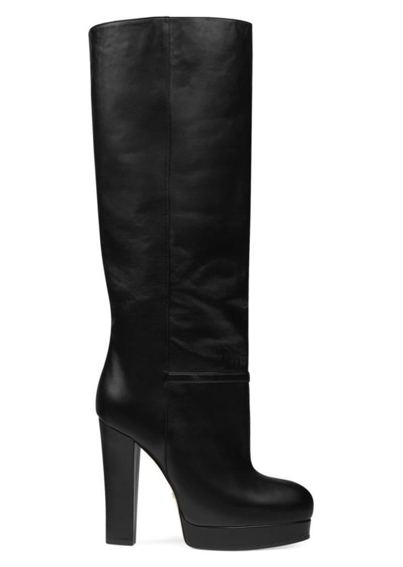Leather Platform Boots