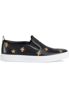 Gucci Leather slip-on sneakers with bees