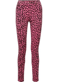 Gucci Leopard-print High-rise Skinny Jeans