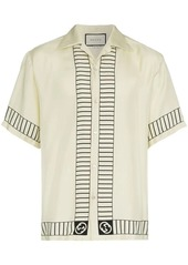 Gucci logo embellished bowling shirt