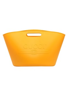 Gucci Logo Embossed Rubber Tote Bag