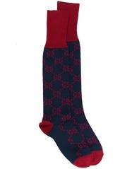Gucci logo intarsia long socks
