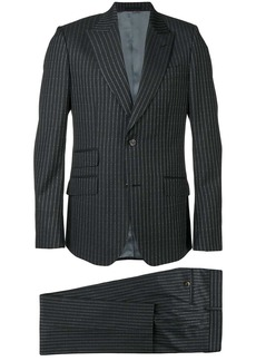 Gucci logo pinstripe formal suit