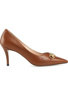 Gucci logo plaque 75mm pumps