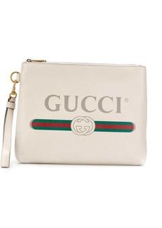 Gucci logo print clutch