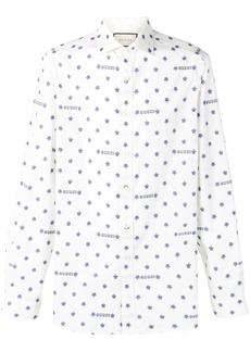 Gucci logo star print shirt