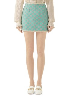 Gucci Macro GG Contrast Trim Mini Skirt