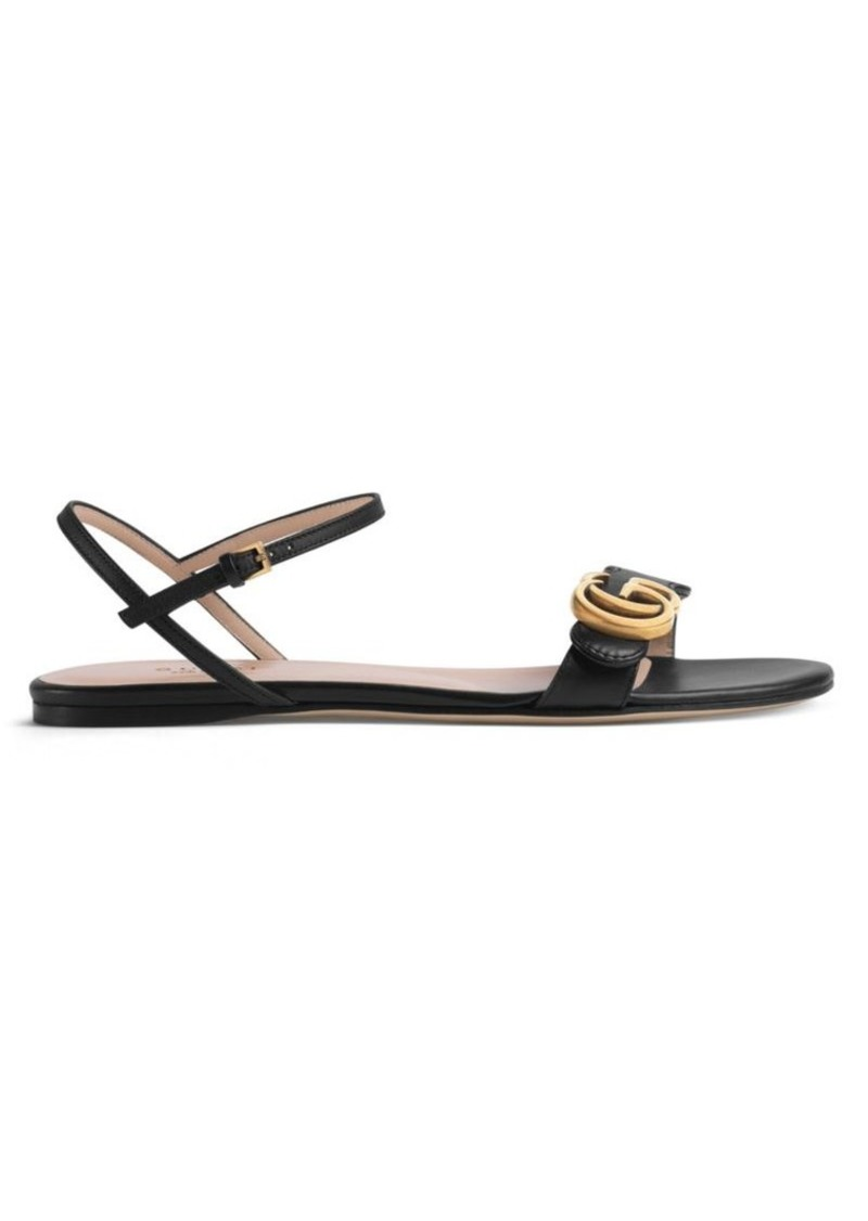 8c4f03c46a9 Gucci Leather Double G Sandals