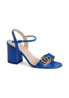 Gucci Marmont GG Ankle-Strap Sandals