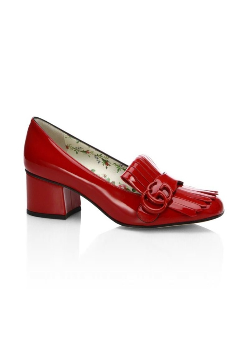a7f976e0177 Gucci Marmont GG Patent Leather Loafer Pumps