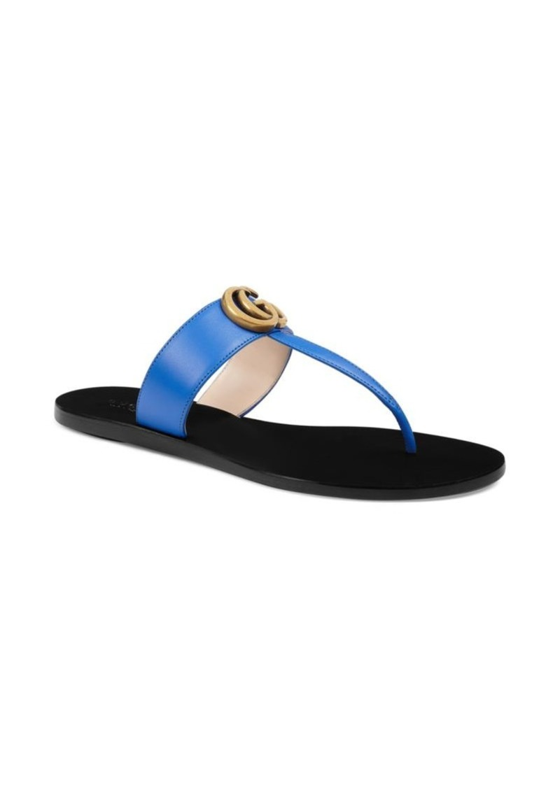 9564485ceaf5 Gucci Leather Double G Thong Sandal