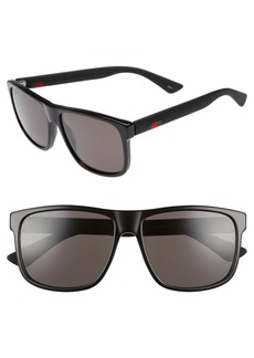 Men's Gucci 58mm Sunglasses - Black