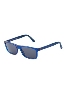 Gucci Men's Rectangle Plastic/Metal Sunglasses