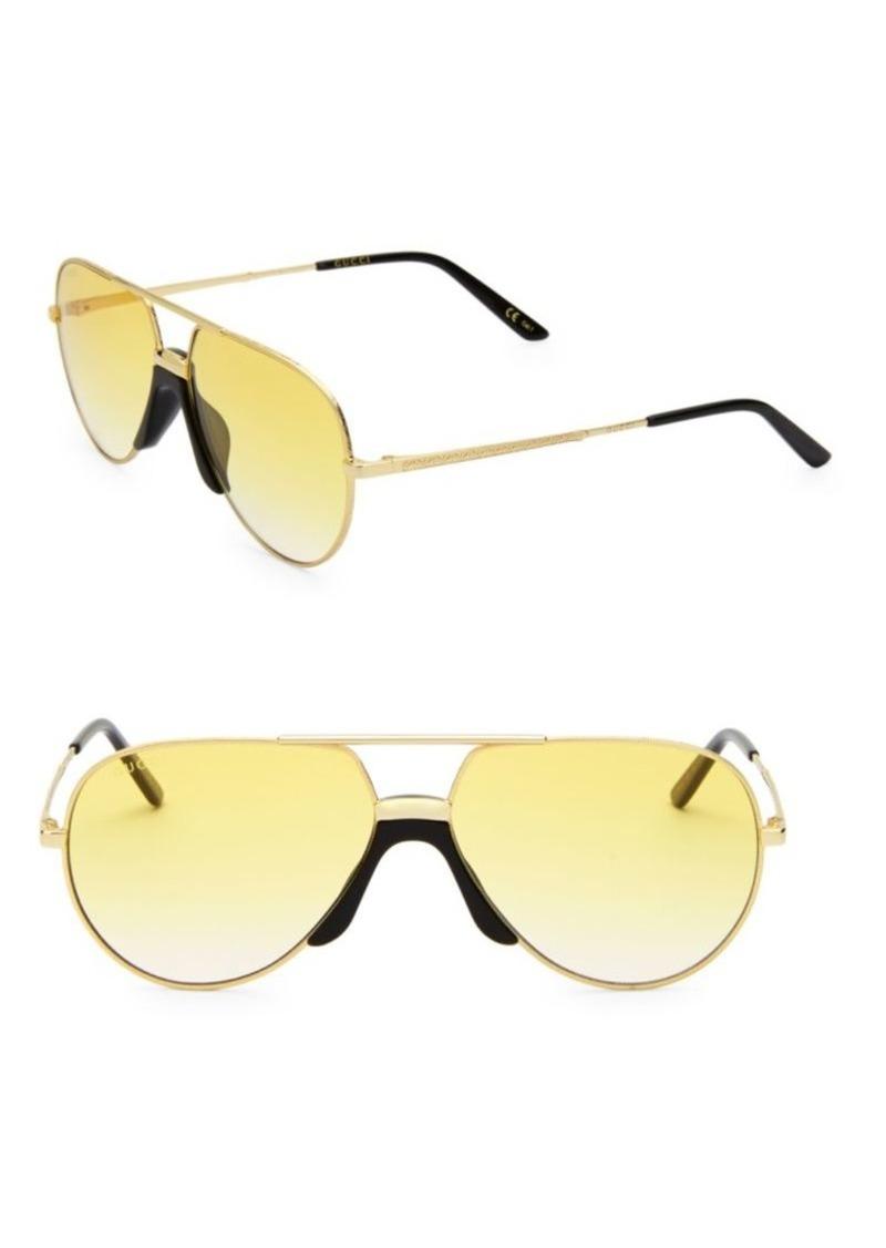 Gucci 65MM Aviator Sunglasses