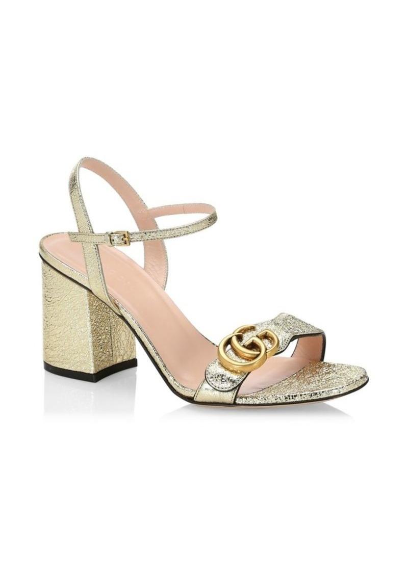 369f9d9a8982a Gucci Marmont GG Ankle-Strap Sandals   Shoes